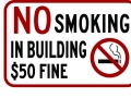 NO SMOKING custom sign
