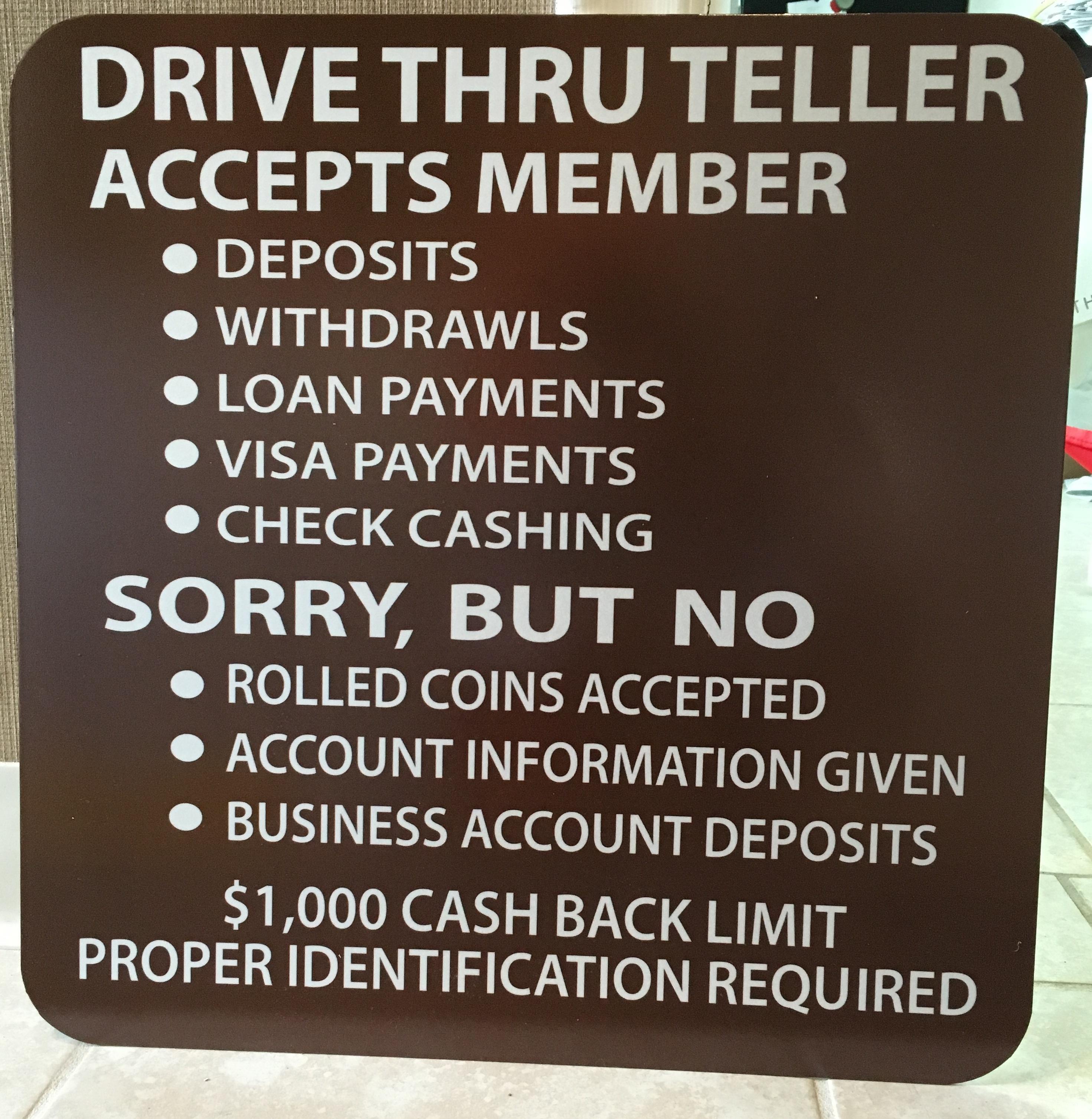 bank sign