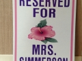 mrs. simmerson sign