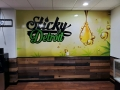 sticky wall graphic